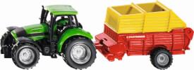 SIKU 1676 SUPER - Traktor mit Pöttinger Ladewagen, ab 3 Jahre
