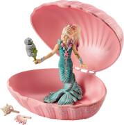 Schleich Bayala - 70564 Meerjungfrau mit Baby-Robbe in Muschel, ab 5 Jahre