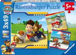 Ravensburger 09369 Puzzle Paw Patrol Helden im Fell 3 x 49 Teile