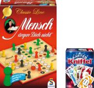 Schmidt Spiele Bundle Mensch ärgere dich nicht Classic Line plus Kniffel Kartenspiel