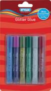 Stylex Glitter Glue, 6 Tuben # 10,5 ml