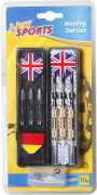 New Sports Dartset Brass, für elektronisches Dart, 16 g, 18-teilig, Packmaß ca. 14,5x29x2,5 cm, ab 14 Jahren