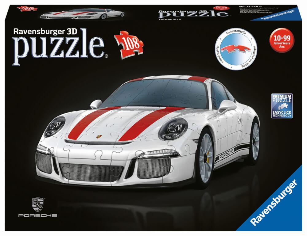 Ravensburger 125289 Puzzle 3D Porsche 911 R 108 Teile 3D Puzzles