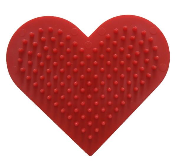 rot Basteln & Kreativität HAMA Stiftplatte kleines Herz