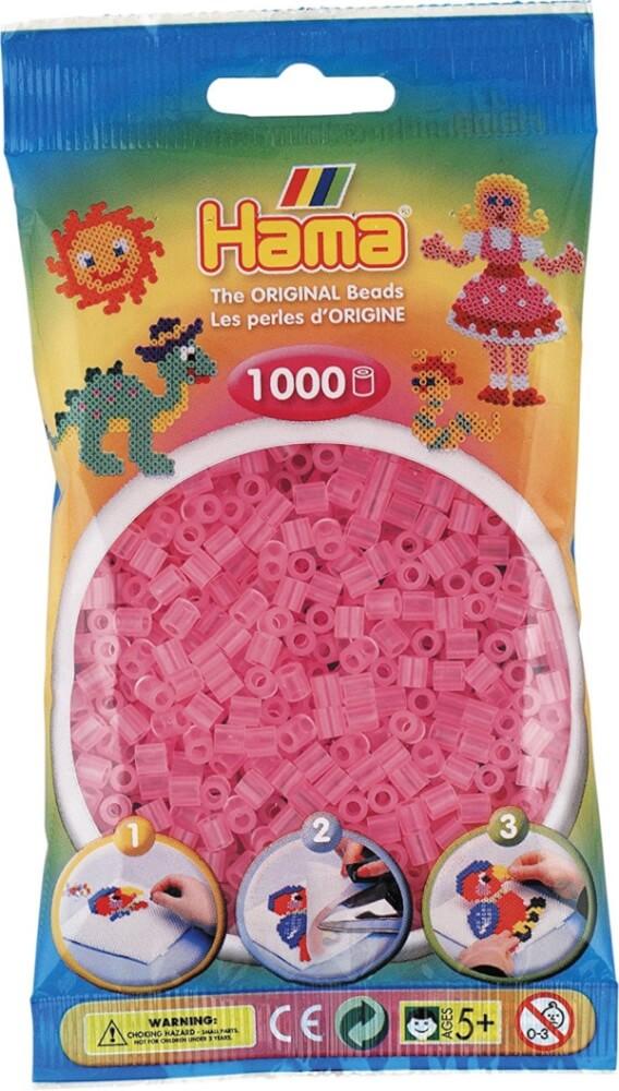 Pastell Pink 1000 Perlen Creativsets Hama Bügelperlen Midi Basteln & Kreativität
